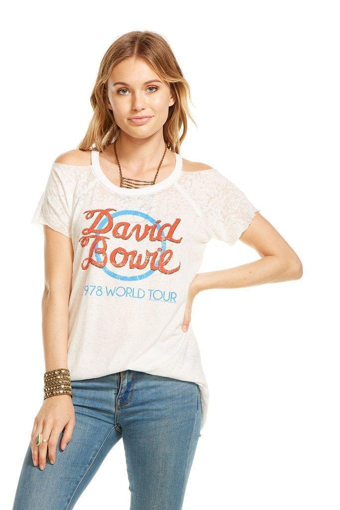Chaser David Bowie 78 World Tour T Shirt in White