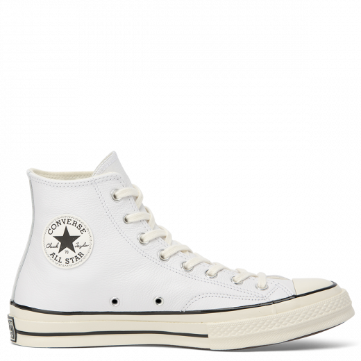 Converse Chuck Taylor All Star 70 Seasonal Leather Hi Top White/Black/Egret