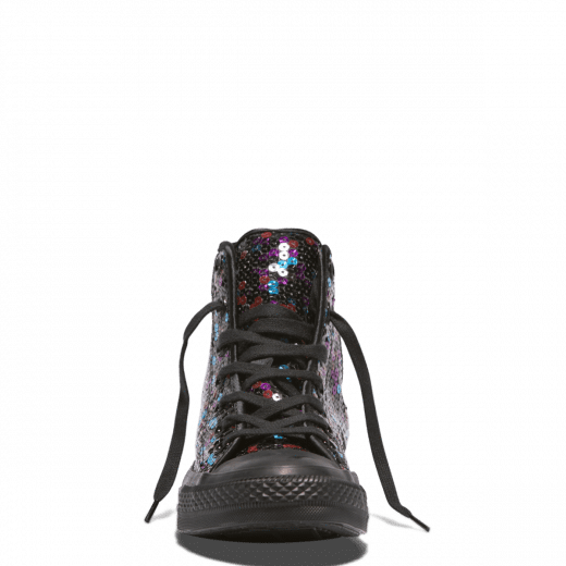 Converse CT Sequins Hi Top, Black, Blue, Cherry Red