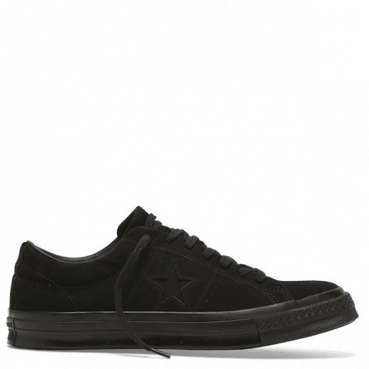 3002501c5ea1a4 Converse One Star Suede Low Top Black.