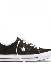 Converse One Star Suede Low Top Black/White