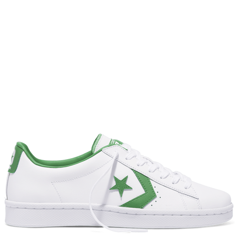 Converse Pro Leather 76 Low in White and Green