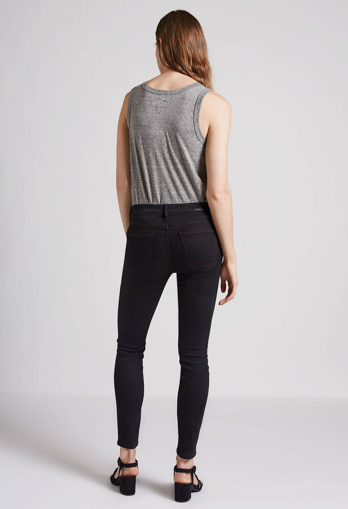 Current/Elliott The Stiletto Skinny Jean Jet Black