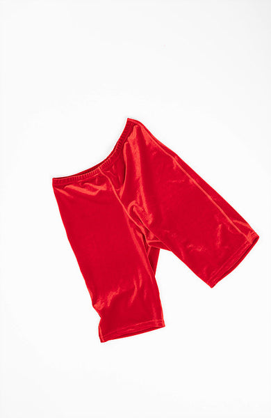 Velvet Sock's by Simone Wild Velvet Bike Short Fire Red