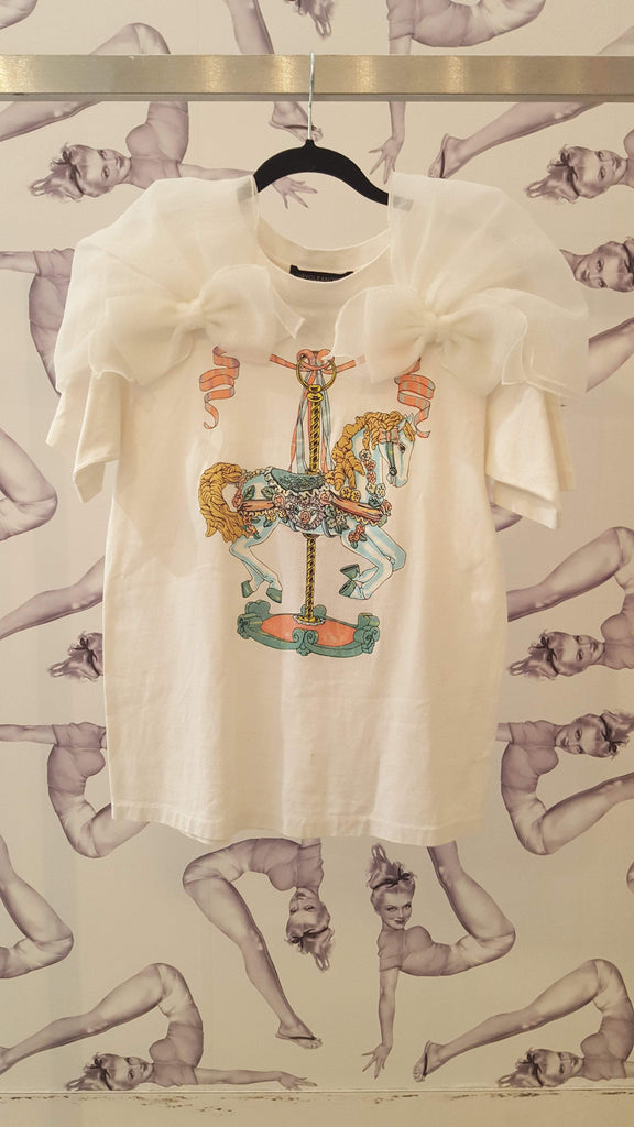 Dry Clean Only / Madeleine Top / White Rocking Horse