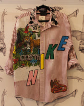Dryclean Only Colorado Shirt Jungle/Nike Stripe