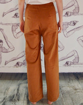 Astrid & Cyril One Button Pants Copper Corduroy