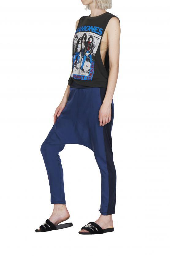 Empire Rose Fortuna Luxe Loose Pants Navy