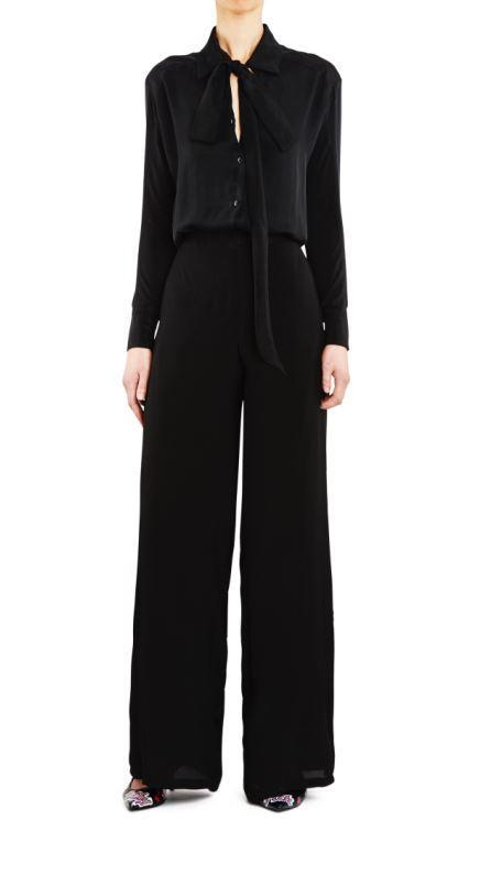 Empire Rose PJ Pant Plain Black