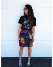 Empire Rose Sequin Skirt in Multi Bold
