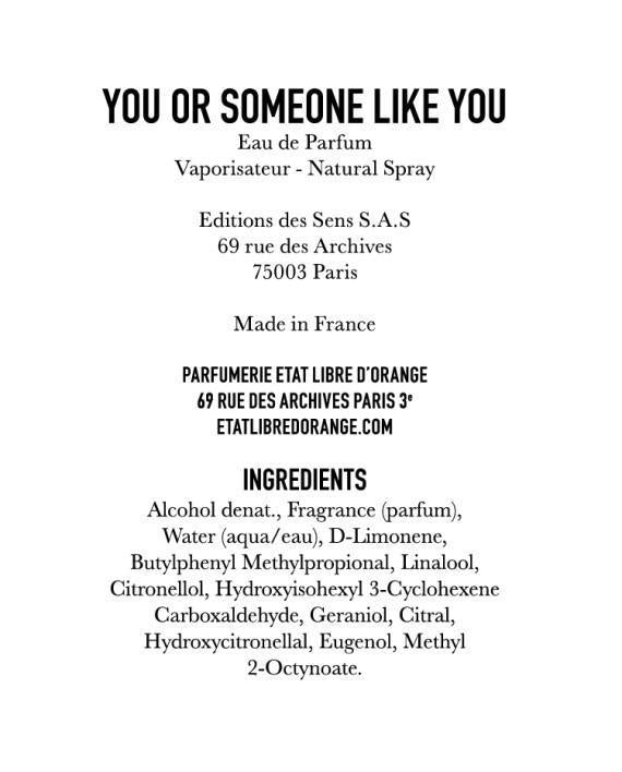Etat Libre d'Orange / You Or Someone Like You / 50ml