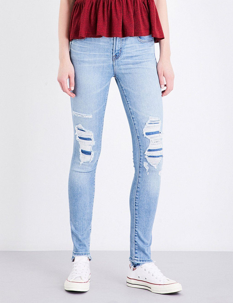 J Brand Maria High-Rise Skinny Leg in Diversion Destruct