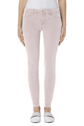 J Brand Mid-Rise Super Skinny in Peach Whip