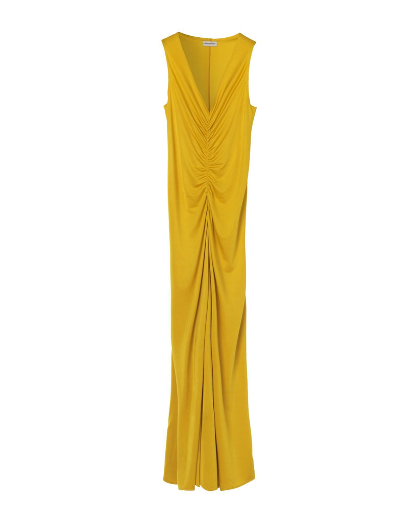 By Malene Birger Sleeveless Ruched Maxi Dress Dandelion