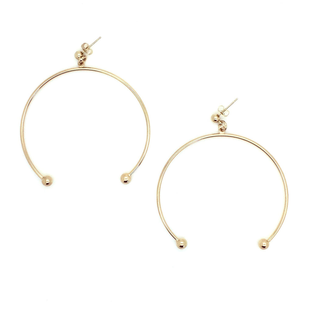 Justine Clenquet Anna XL Earrings Gold