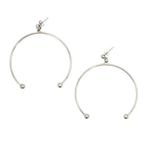 Justine Clenquet / Anna XL Earrings / Palladium