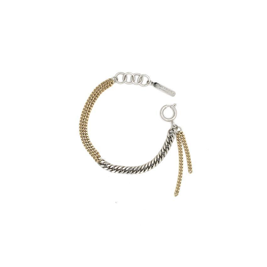Justine Clenquet Ashley Bracelet Palladium and Pale Gold
