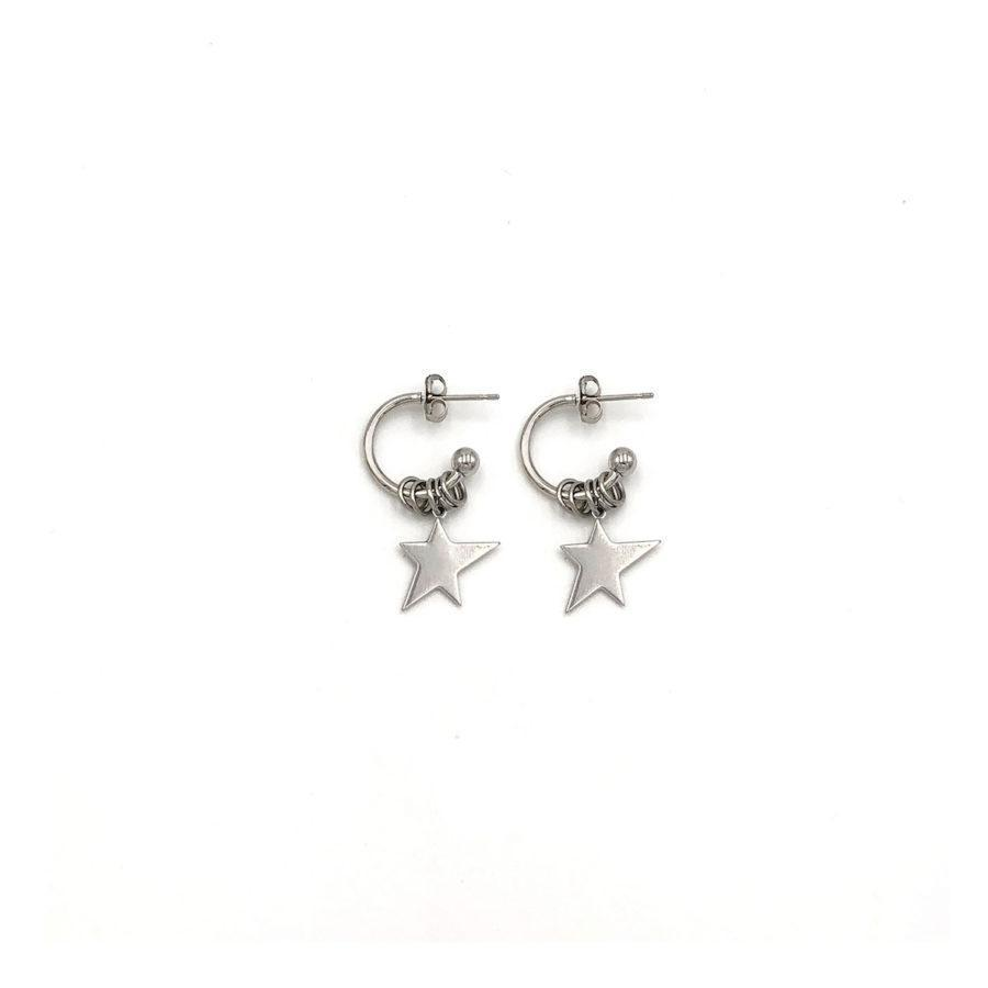 Justine Clenquet Billy Earrings Palladium