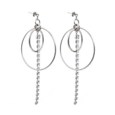 Justine Clenquet Cooper Earrings Palladium