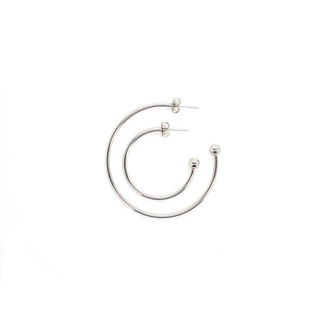 Justine Clenquet Grace Earrings Palladium