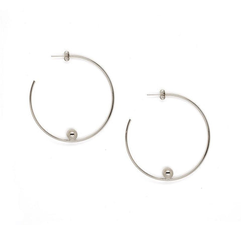 Justine Clenquet Jina Earrings Palladium