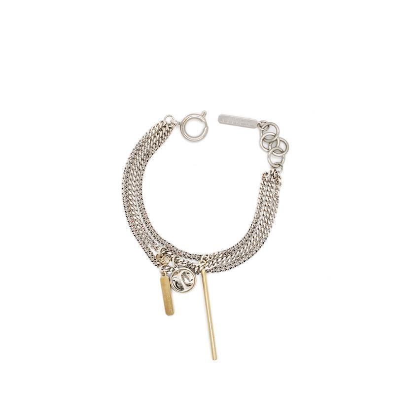 Justine Clenquet Mike Bracelet Palladium and Pale Gold