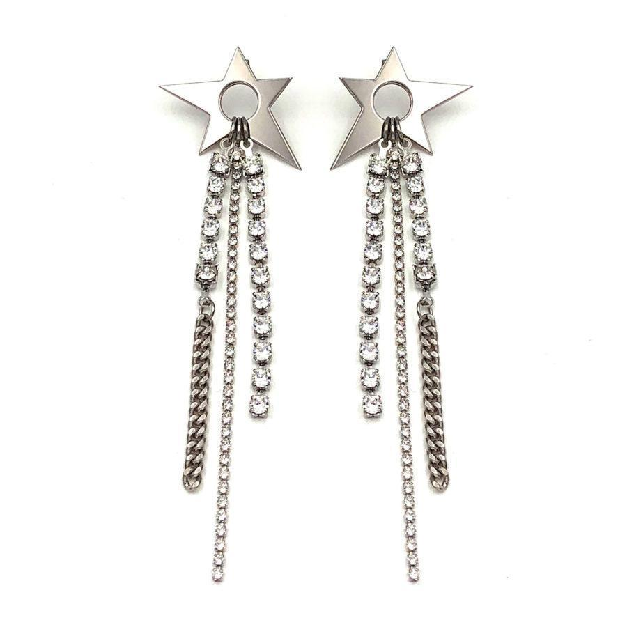 Justine Clenquet Ziggy Earrings Palladium