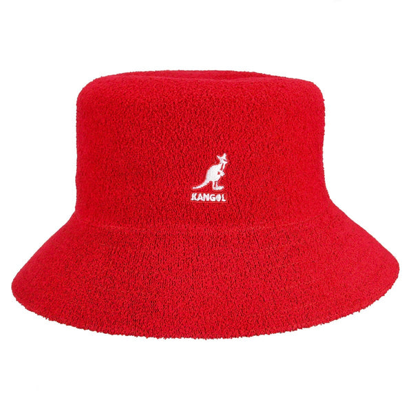 Kangol Bermuda Bucket Scarlet with White Logo