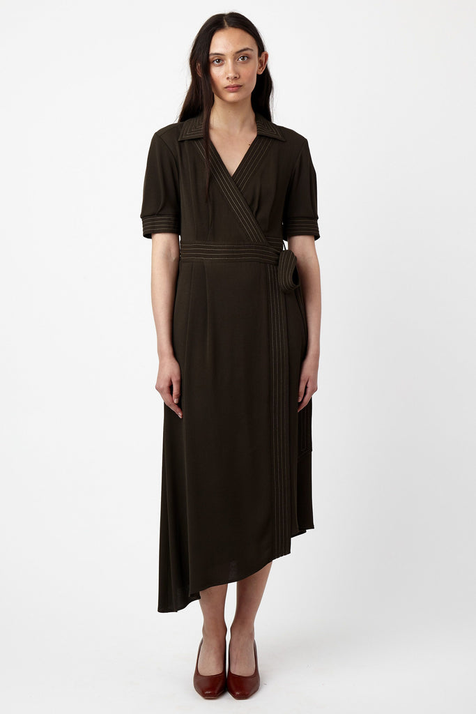Kate Sylvester Iris Dress Khaki