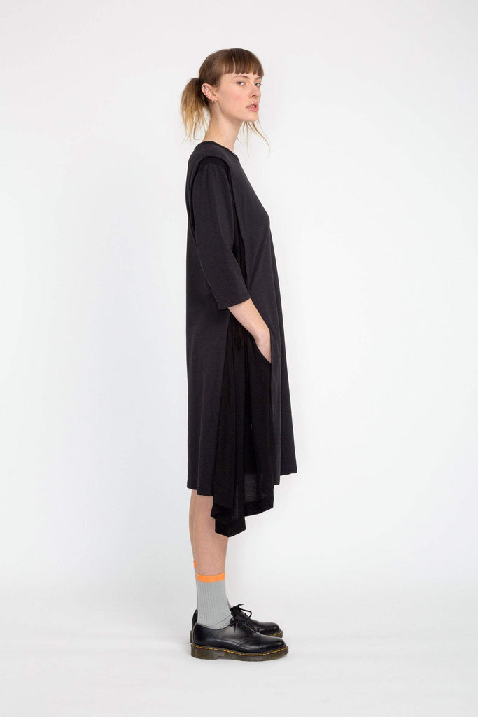 Nom*d Inset Dress Black