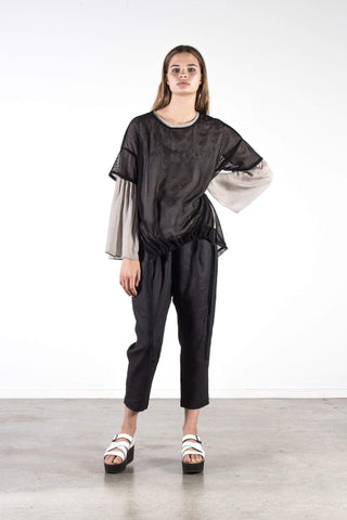 Nyne Halle Top Black Silk