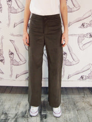Astrid & Cyril / One Button Pants / Olive Corduroy