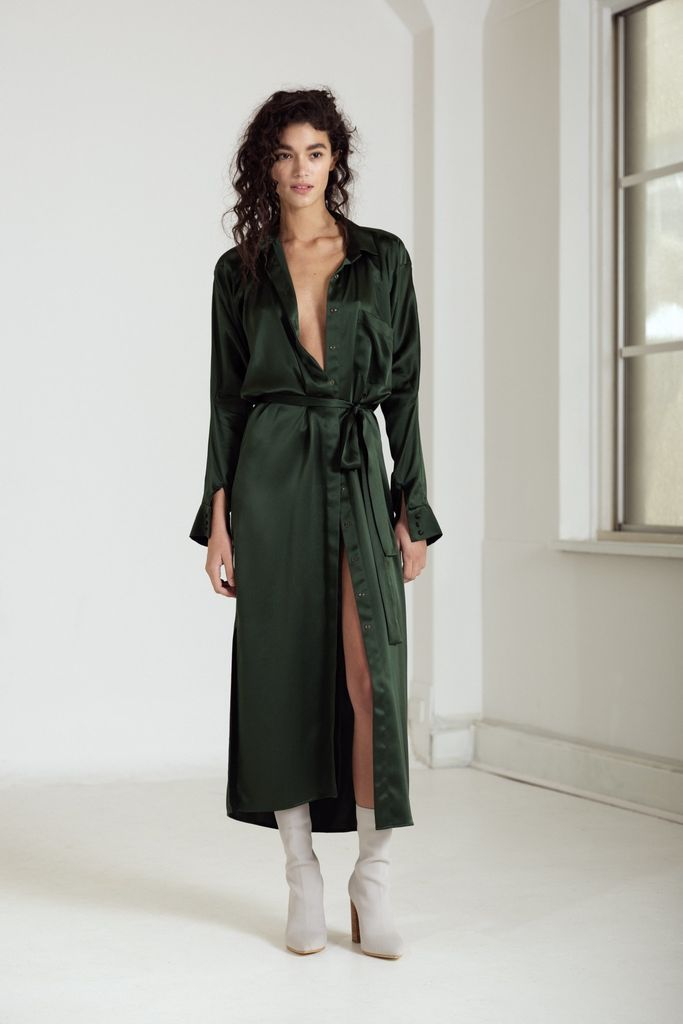 One Fell Swoop Forme Maxi Shirt Dress Jungle