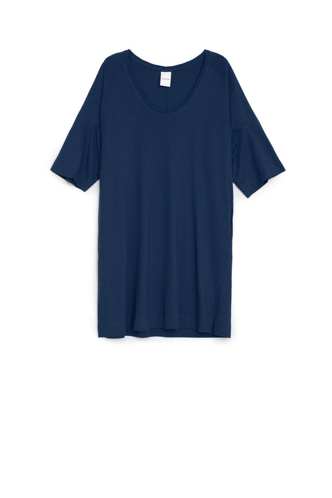 Kowtow Oversized T-Shirt Dress Dark Blue