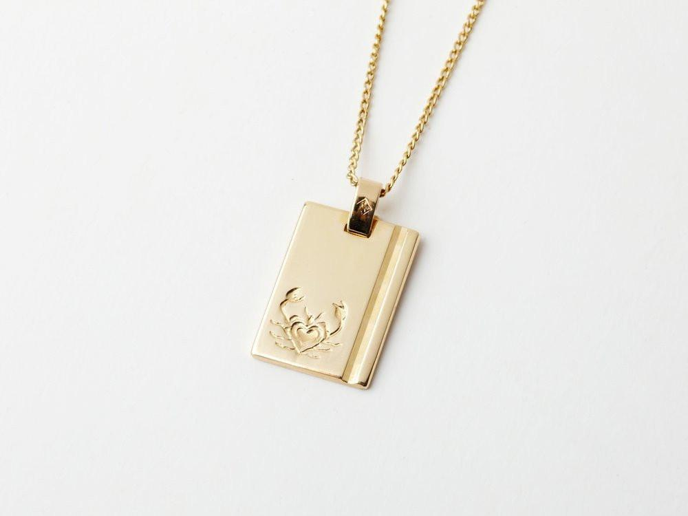 Reliquia Star Sign Necklace Cancer in Gold