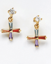 Reliquia / Mini Cross Earrings
