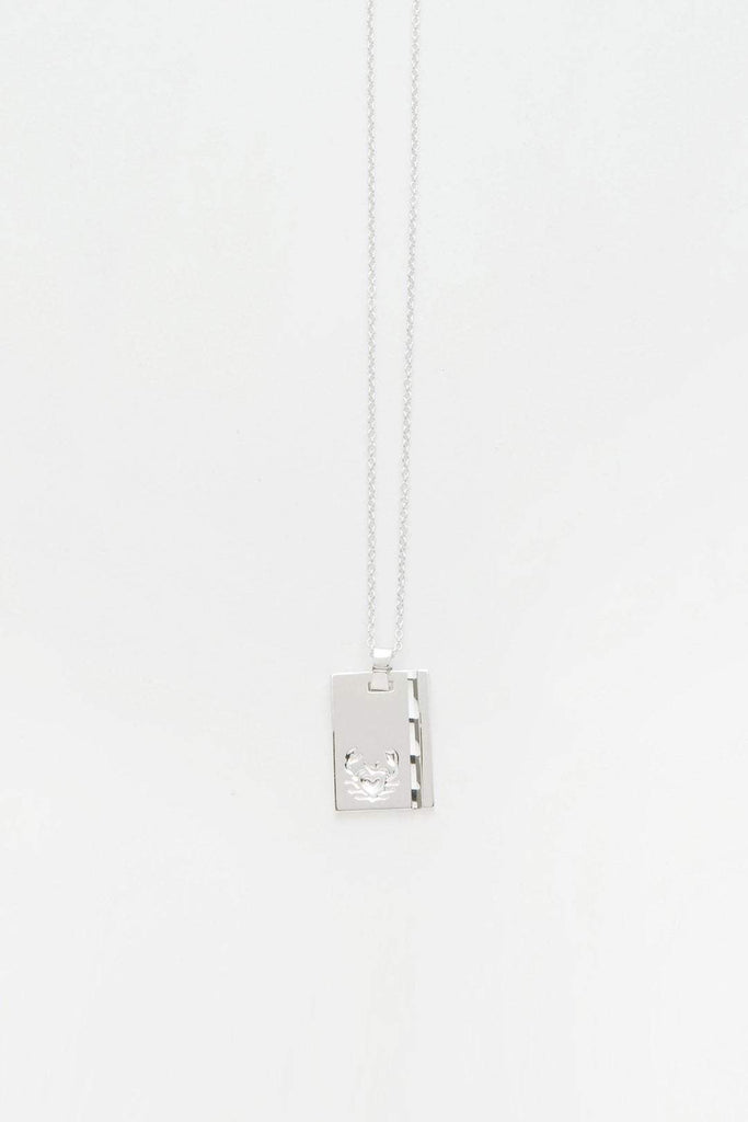 Reliquia Star Sign Necklace Cancer in Sterling Silver