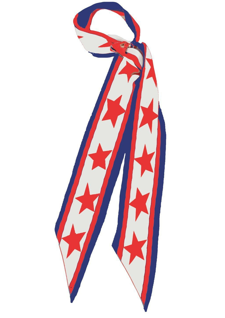 Rockins Super Skinny Scarf Americana Blue/Red/White with Red Stars