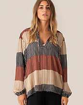 Second Female Board Long Sleeve Blouse Apricot Brandy