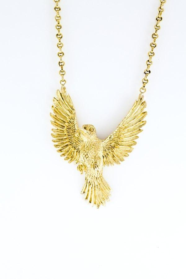 Totomoto Small Honey Eater Necklace Short Chain