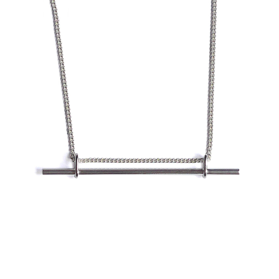 You Me Berlin Trapeze Necklace in Sterling Silver
