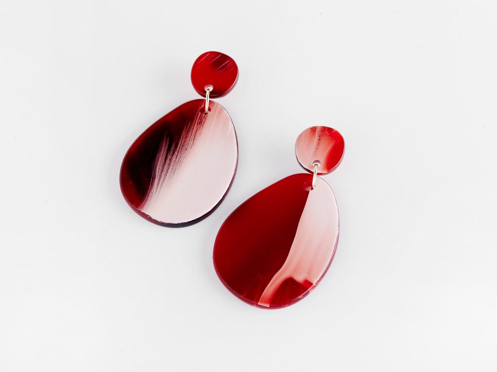 Valet Studio Pandora Earrings Red