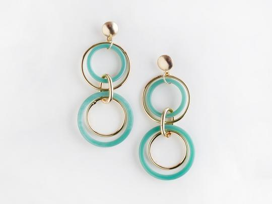 Valet Studio Trio Earrings Aqua