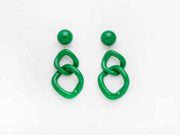 Valet Studio Tamara Earrings Green