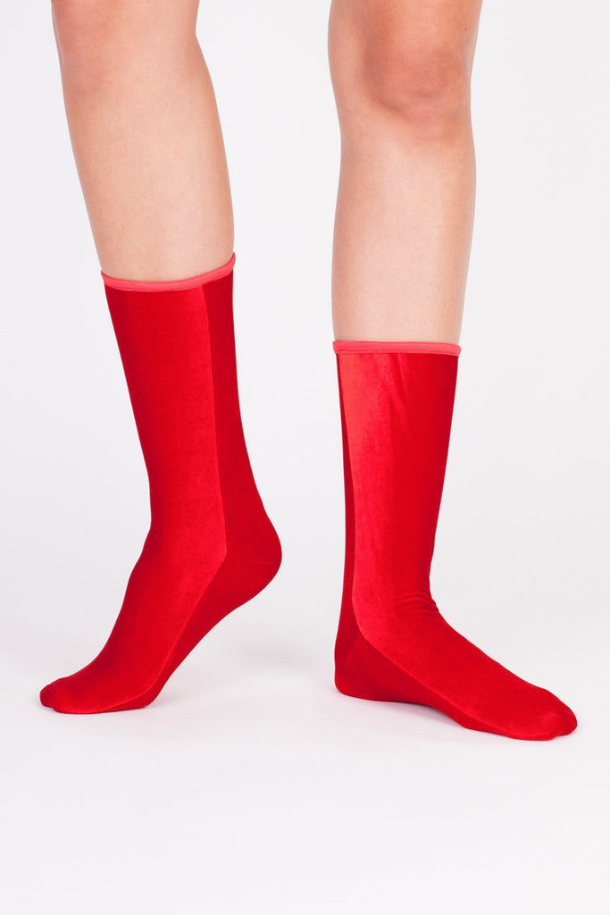 Velvet Sock's by Simone Wild / Fire Red