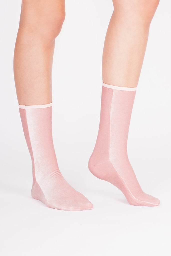 Velvet Sock's by Simone Wild / Light Pink