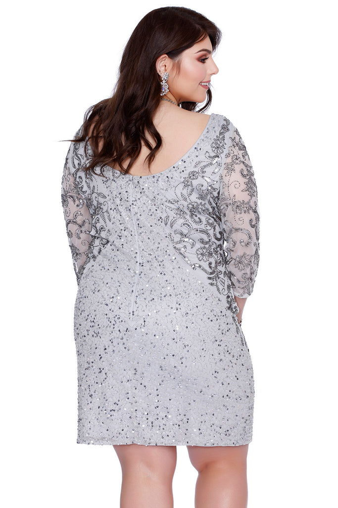 embellished illusions silver dress 71176 – kurves by kimi