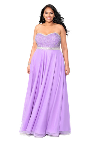 First Kiss Evening Lavender Gown 71165 - Kurves By Kimi