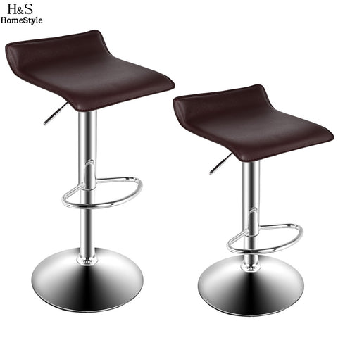 2 PCS Chrome Gas Lift Bar Stools