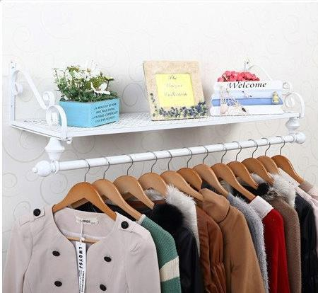100% Metal Clothing display rack,commercial furniture,white black,bronze coat rack,shoe display,Bedroom furniture, wardrobe